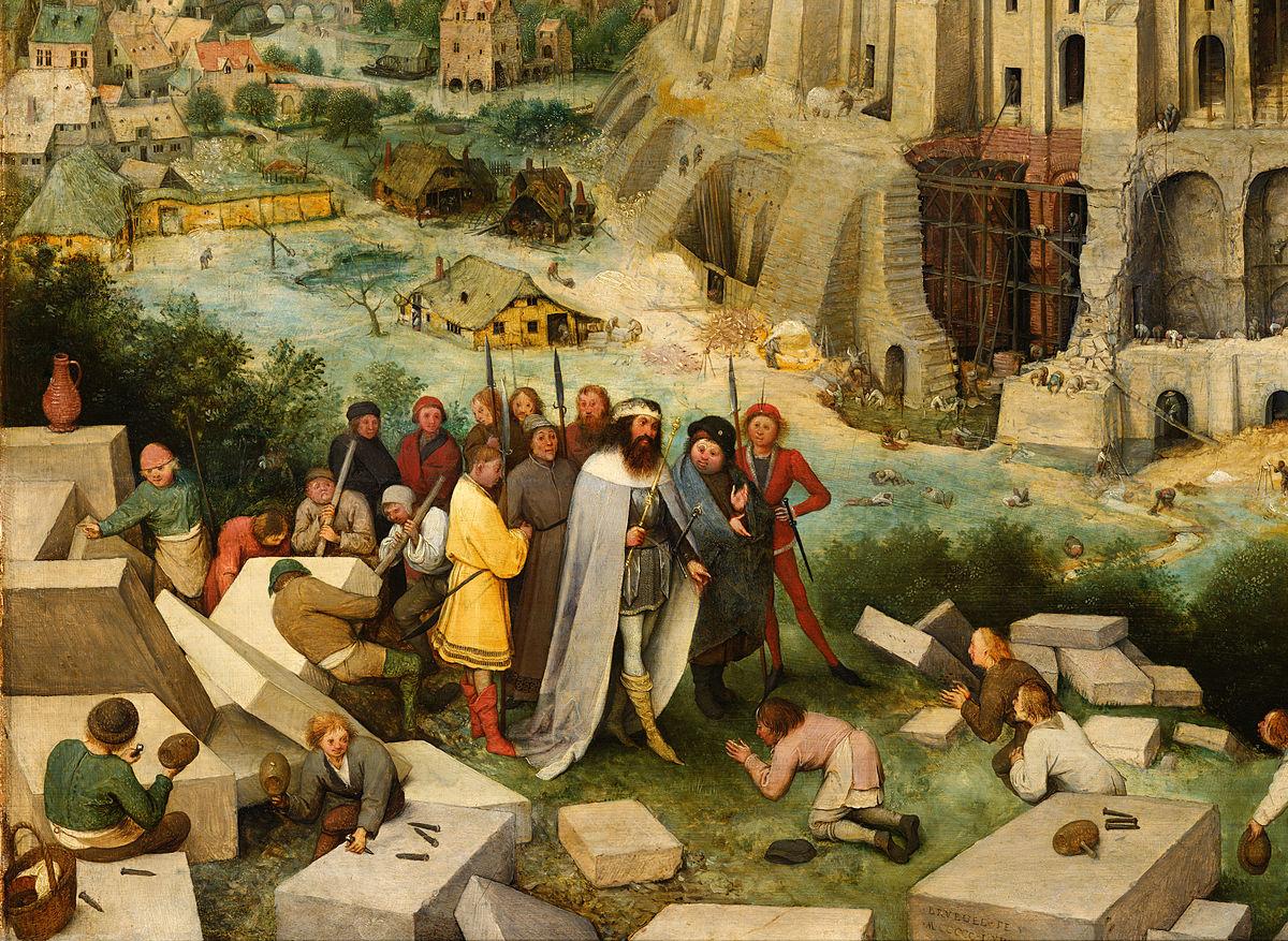 Wood Panel The Tower Of Babel Bruegel Wikipedia
