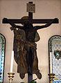 Pieve di San Pietro (San Piero a Sieve), int., altare con crocifisso di raffaello da montelupo, 02.JPG