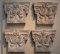 Pilaster capitals from the Pantheon, decorative column tops from inside the Pantheon, British Museum (14975636586) (2).jpg