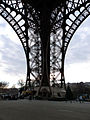 Pillar of the Eiffel Tower, Paris 19 December 2009.jpg