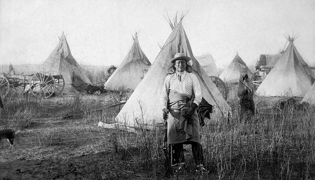 Pine Ridge Agency, Young Man Afraid of His Horses and his tepee taken at, Jan.17, 1891 (Sioux). - NARA - 533072restoredh