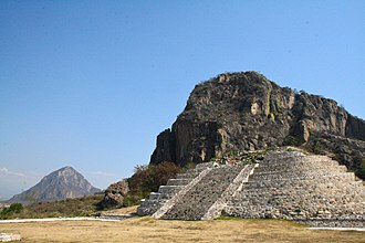 Chalcatzingo - The pyramid of Chalcatzingo in the Mexican state of Morelos