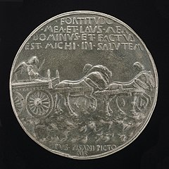Angel in a Car Drawn by Horses [reverse]
