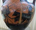 Pittore andokides, anfora a figure nere con eracle e cerbero, 530 ac. ca, 02.JPG