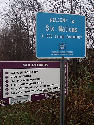 Six Nations of the Grand River - Image: Place sign, Six Nations, Ontario