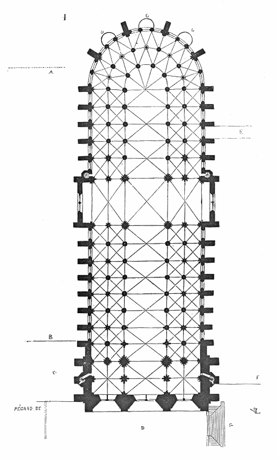 Plan.cathedrale.Paris.primitive