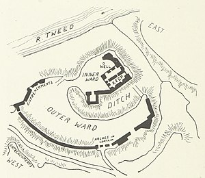 Norham Castle - Image: Plan of Norham Castle, (1897)