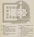 Plan of the chapel of the Monastery of Virgin Mary (Deir al-Adra) in Minya, Egypt - Curzon Robert - 1849.jpg