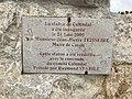 Plaque inauguration de la statue du Calendal à Cassis (France).jpg