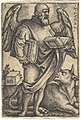 Plate 3- Saint Luke with his head turned in profile to the right, a book in each hand, a bull at his feet, from 'The four evangelists' MET DP828549.jpg