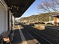 Platform of Toyotsu Station (Tagawa Line) 12.jpg