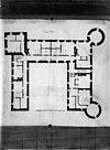 plattegrond van kasteel - amstenrade - 20010722 - rce