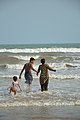 Playful Family with Sea Waves - New Digha Beach - East Midnapore 2015-05-01 8720.JPG