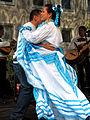 Plaza Cultural Iberoaméricana 2013, 19b04c el pastor Salvador Terrazas Cuellar y una bailarina.jpg