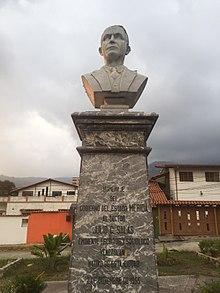 Busto deJulio César Salas, defensor venezolano de las ideastolstoianas.