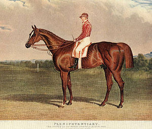 Plenipotentiary (horse) - Plenipotentiary, by Harry Hall.