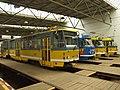 Plzeň, Vozovna Slovany, tramvaje III.JPG