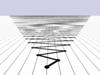 กราฟแสดงผลรวมจำกัดพจน์ 15,000 ค่าแรกของอนุกรม 1 − 2 + 3 − 4 + …