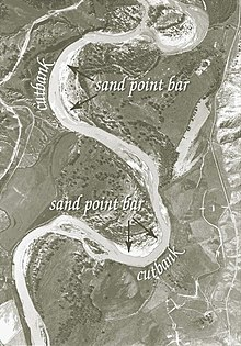 Haircut Banking : Cut bank erosion and point bar deposition as seen on the Powder River ...