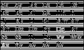 Script of the Polish language