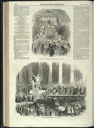 Inauguration of James K. Polk - Sketches of ceremony in the Illustrated London News.