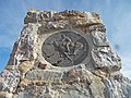 Pony Express monument near Five Mile Pass (close up).jpg