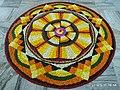 Pookkalam Цветочный ковер Onappookkalam Nithyananda Ashram Kanhangad 2019.jpg