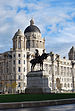 English: Port of Liverpool Building and statue...