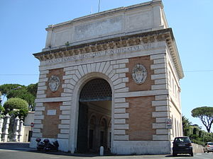 Porta San Pancrazio - Porta San Pancrazio, outer side