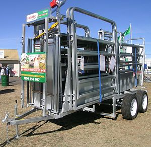 Yard (land) - Portable cattle yards