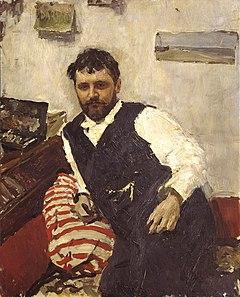 портрет кисти В.А.Серова, 1891, из коллекции И.А.Морозова