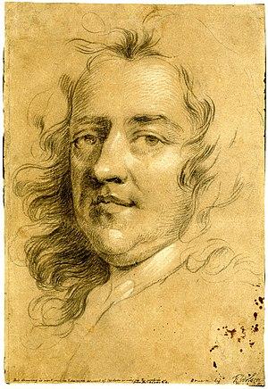 Peter Vanderbank - Chalk portrait of Vanderbank by Sir Godfrey Kneller