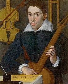 Ritratto di un giovane gambista, forse Monteverdi o Gasparo da Salò, eseguito da un pittore cremonese.