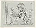 Portret van Jozef Israëls Bekende tijdgenoten, naar het leven geteekend (serietitel op object), RP-P-1897-A-19454.jpg
