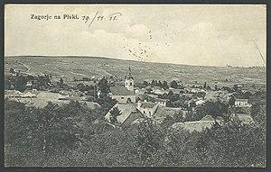 Zagorje, Pivka - 1911 postcard of Zagorje