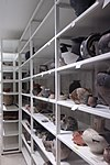 pottery collection in the vault of de tempel
