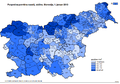 Povprečna površina naselij, občine, Slovenija 1.1.2013.png