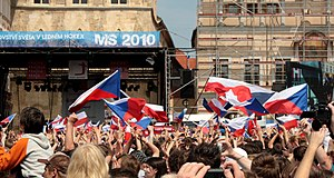 Sport in the Czech Republic - Arrival of the ice hockey world champions at Old Town Square (2010)