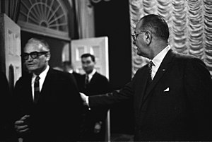Barry Goldwater - President Lyndon B. Johnson with Senator Goldwater, January 16, 1964