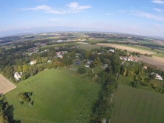 Presinge - The village of Presinge, aerial view