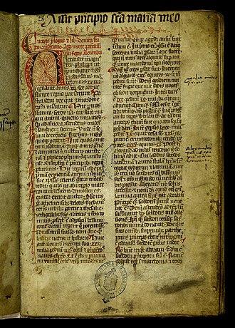 Gesta principum Polonorum - Beginning of Gesta principum Polonorum (Codex Zamoyscianus held at the National Library of Poland).