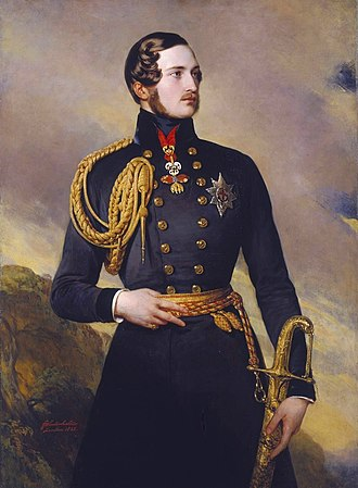 Order of the Golden Fleece - Prince Albert wearing the Spanish Fleece in 1842 (portrait by Franz Xaver Winterhalter)