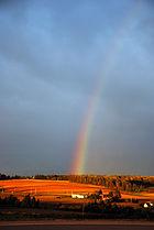 Prince edward island farm rainbow