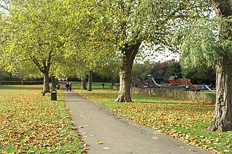 Parks and open spaces in the London Borough of Haringey - Priory Park, looking towards Abbeville Road