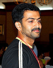 A side shot of Prithviraj Sukumaran looking away