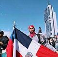 Protestas dominicanas en Santiago de Chile 2020.jpg