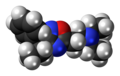 Proxazole molecule spacefill.png