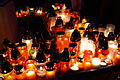Public domain image - candles at night for Christian prayer event.JPG