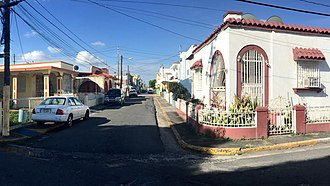 "Cataño, Puerto Rico - An urbanized part of town, these well built homes are considered ""middle class"" habitat for town folks"