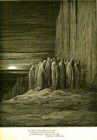 Ilustrim per Purgatorin e Dantes nga Gustav Dor .